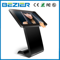 wall mounted 21.5 inch LCD all-in-one touchscreen ads kiosk android PC