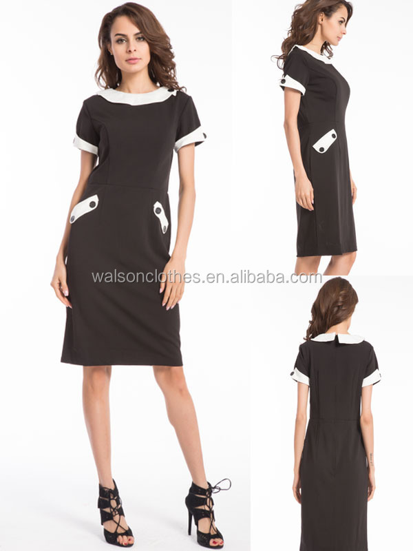 Wholesales walson clothes Vintage 50s Style Pencil Fitted Wiggle Work dress