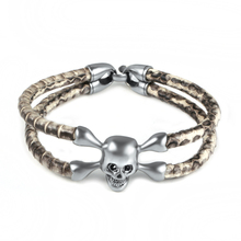 Fashion Silver Skull Leather Bracelet Cute Cheap Jewelry Latest Products In Market