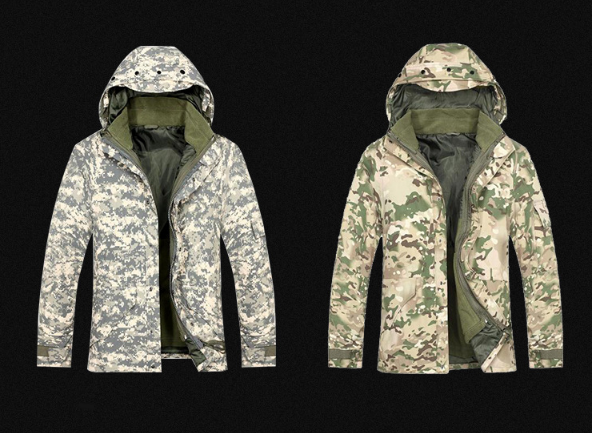 Wholesale outdoor G8 warm winter military camouflage mens jacket for hunting and