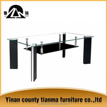 Wholesale elegant design tempered glass coffee table