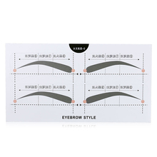 OEM eyebrow shaping tools disposable eyebrow drawing stencil for women