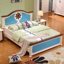 wooden bed durable solid wood bed double