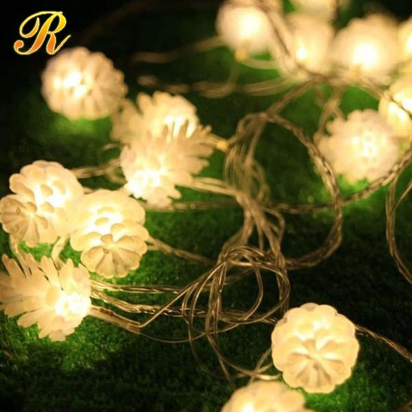 2017 Snowball Multicolor LED String Snow Flakes Lights Battery Party Xmas Wedding Birthday Party Decoration Lightings Casamento