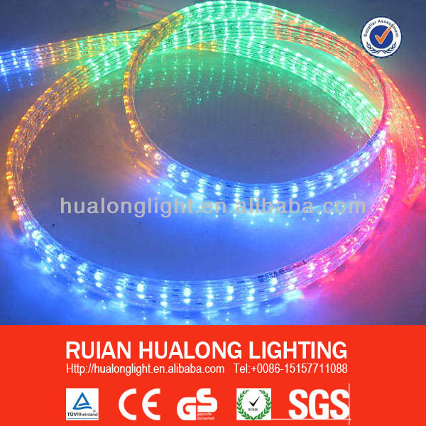 Steady LED flat rope light ( 4 wires) led duralight CE, GS, RoHS LED decorative light Christmas light