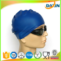 Factory direct sale customized logo print silicone swim caps