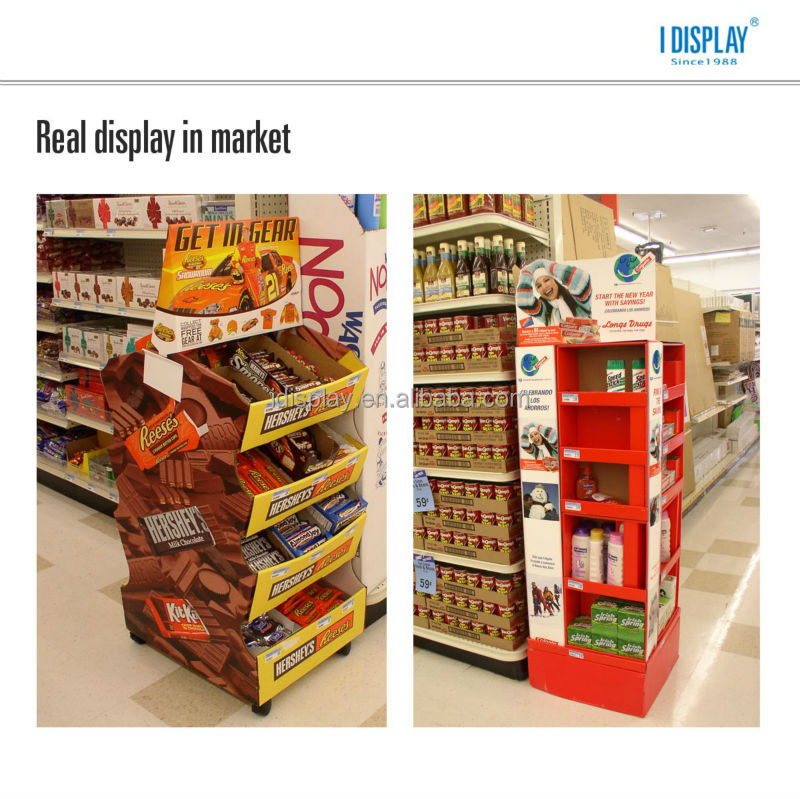 cardboard counter top pop display/mobile display counter/cellphone counter display