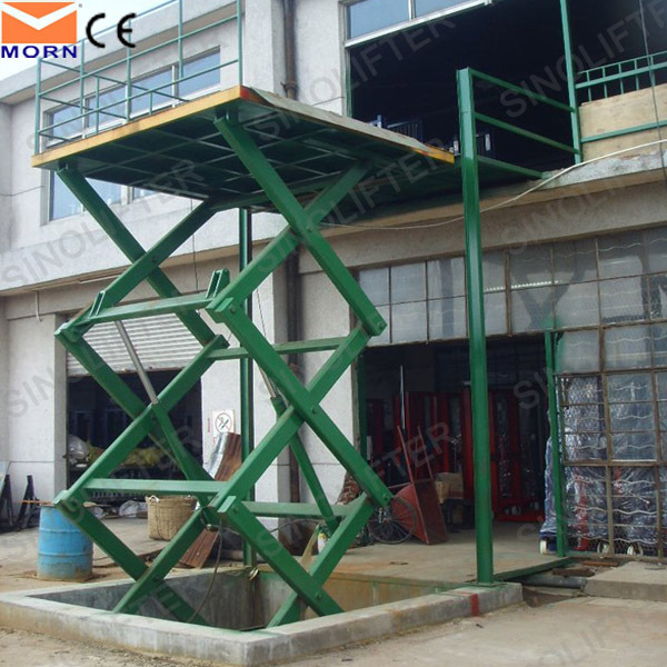 In-ground scissor lift