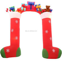 9.5 ft.H Inflatable Stockings with Gifts Archway Lights up Christmas Decorations