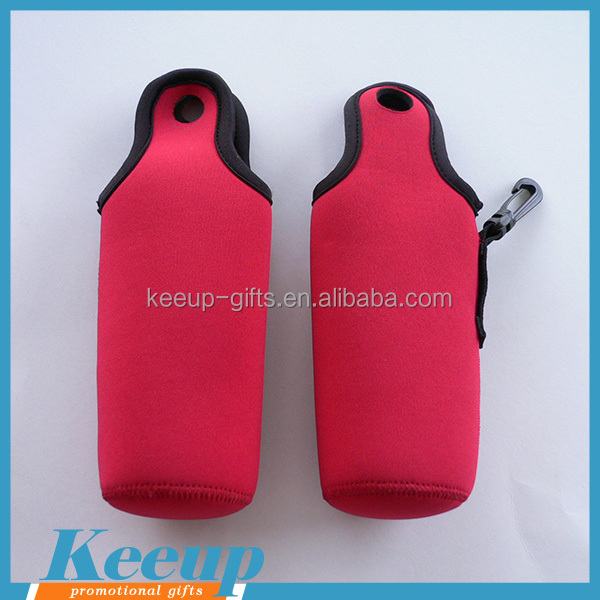 Top Quality Outdoor Items Portable Neoprene Water Bottle Cover with Carabiner