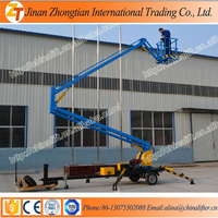 Boom lift articulating booms self propelled articulating boom lift trailer manlift