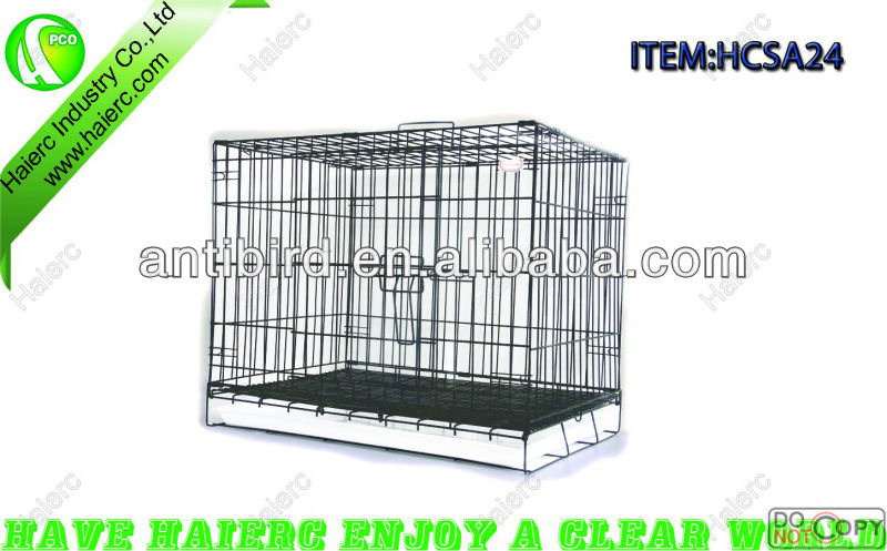 6 Sizes Foldable Wire Steel Animal Cage SA42 with ABS Tray