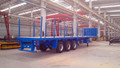 spots 3 axle flatbed trailer of SASO standard for Saudi Arabia market