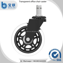 Factory price rollerblade transparent rubber office chair caster wheels