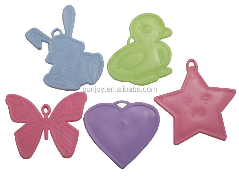 Star Shaped Plastic Balloon Weights Pink