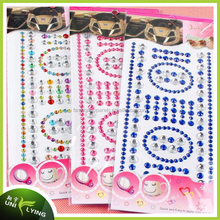 Customized Self Adhesive Pearls And Rhinestone Stickers