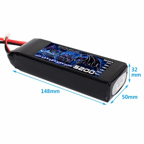 Lipo battery manufacture lipo battery 2s 3s 4s 5s 6s 5200mah 65c rc model airplane battery for helicopter toys for RC drone