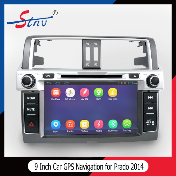 Android 4.4.4 gps navigation for Prado 2014 with 3G WIFI/3D Map/FM/AM