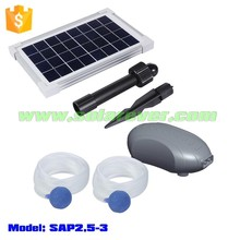 ROHS and CE certified clean energy solar pond oxygenator with two air outlets (SAP2.5-3)