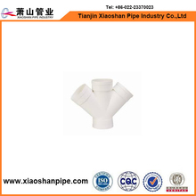 XIAOSHAN upvc pipe supply Y cross fittings for foreign dealers