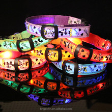 LED Flashing Christmas Light Nylon Dog Collar for <strong>Pet</strong>