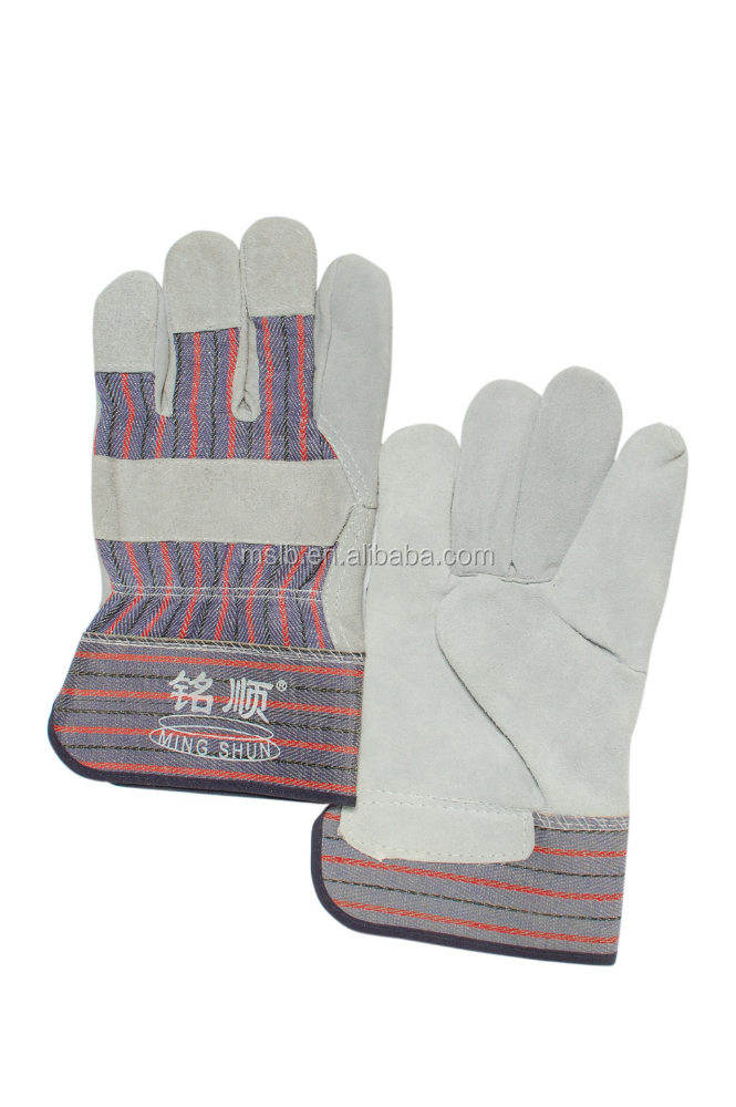Workplace safety supplies quality Cow Leather Safety Rigger Glove