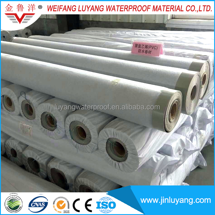 The PVC waterproofing plastic Membrane for Exposed roof