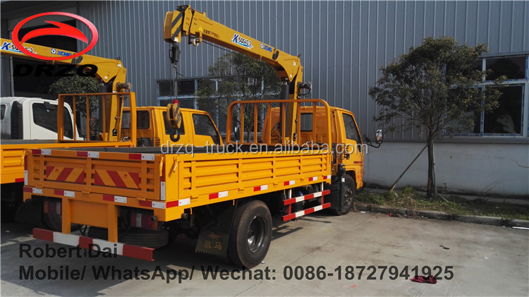 Crane truck factory direct sale! JMC 2000kg lifting capacity 4*2 small truck with crane / crane truck for sale