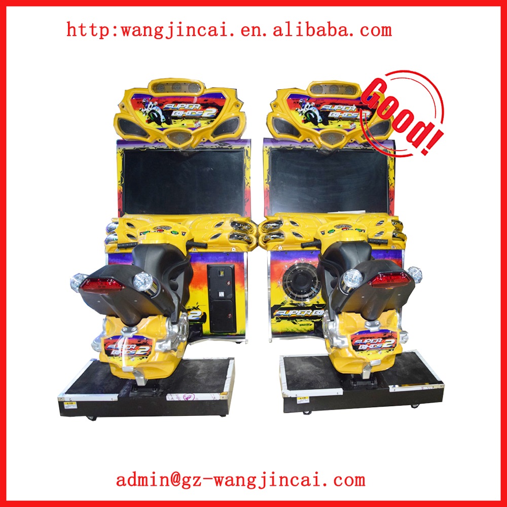 coin operated driving arcade Super Bike 2 gaming machine indoor amusement simulator motorcycles racing car game machine