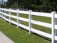 Hot sale factory price pvc ranch fence, cheap farm fencing horse rail fence