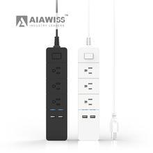 AIAWISS 3 Outlet Surge Protector Power Strip with Dual USB Charging
