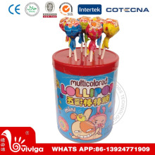 Big Jar Multi-colored Lollipop Bubble Gum Filled