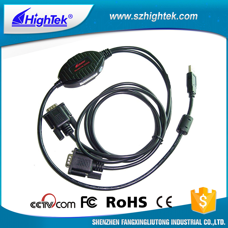 HighTek HK-5202A usb to rs232 to rj45 cable interface converter
