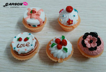OEM manufacture cup cake cute lip balm for girl