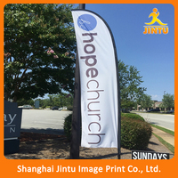 Custom Dye Sublimation Printed Fabric Feather Beach Banner flag