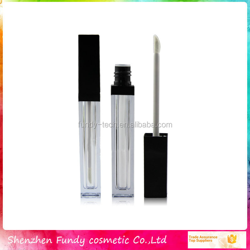 Custom cosmetic container packaging square empty lip gloss tube