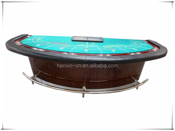 Baccarat Table with foot-rest