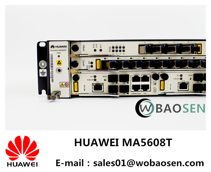 Original New Huawei MA5608T GPON OLT PON 8Ports TO 32Ports 2U/GPBD 8port OR GPFD 16port