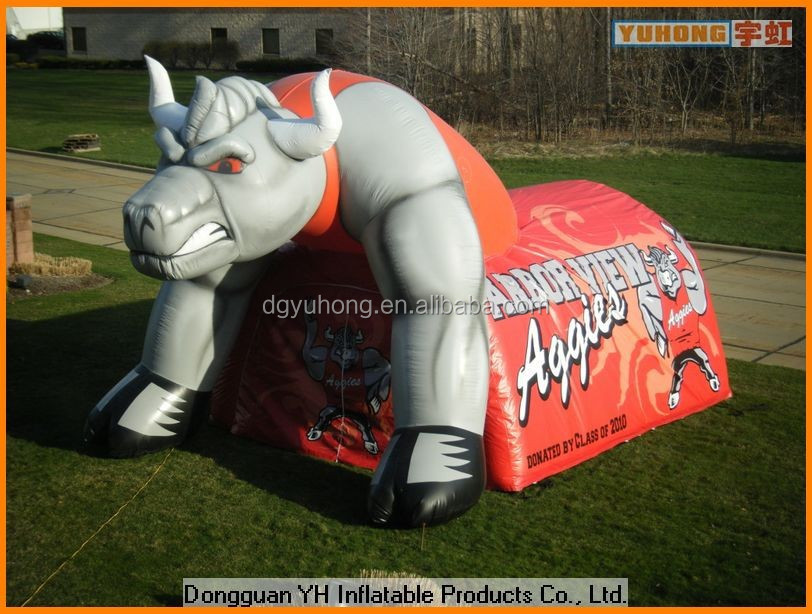 hot sale OEM inflatable cartoon tunnel for sports