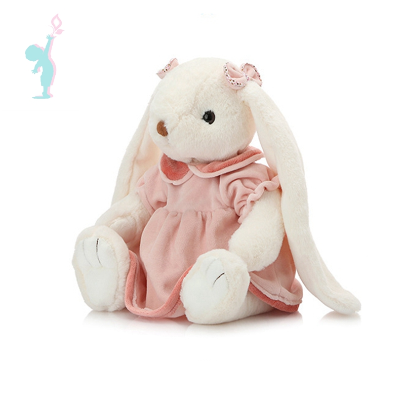 long ears rabbit soft plush toy stuffed rabbit toy with clothes