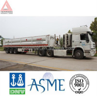 Hydraulic station high pressure gas long pipe semi-trailer
