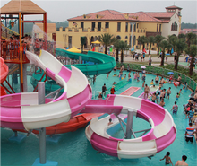 Giant Fiberglass Water Park Spiral Slide for Sale