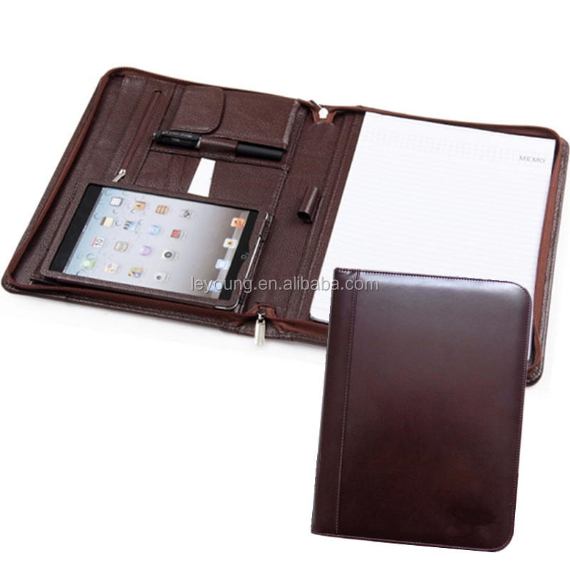 Leather Resume Portfolio Folder - Interview Legal Document Organizer