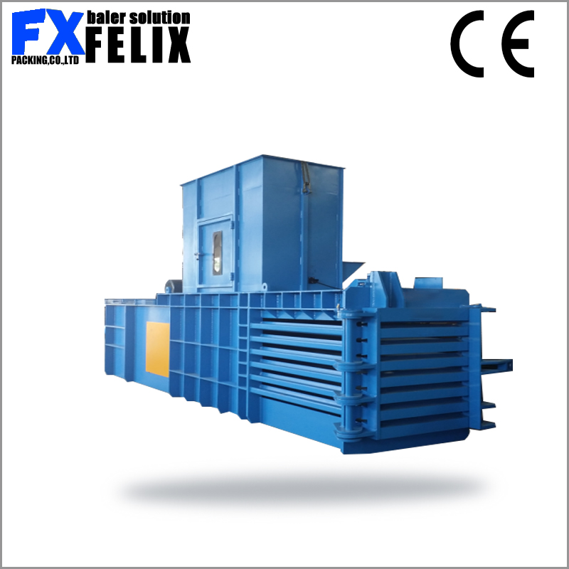 horizontal waste scrap cardboard baler foam baling machine tire/tyre baling press