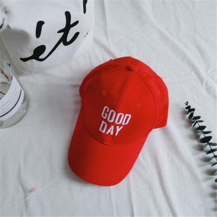 Good day letter embroidery logo baseball <strong>caps</strong> for kids children baseball <strong>caps</strong>