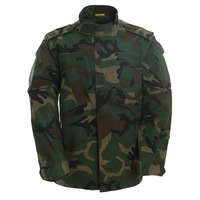 Polyester / Cotton Material and Unisex Gender Woodland Army Camouflage Military uniform