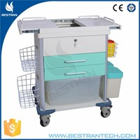 BT-EYS07 China factory sale steel medical device trolley, medical dressing trolley, medical equipment cart