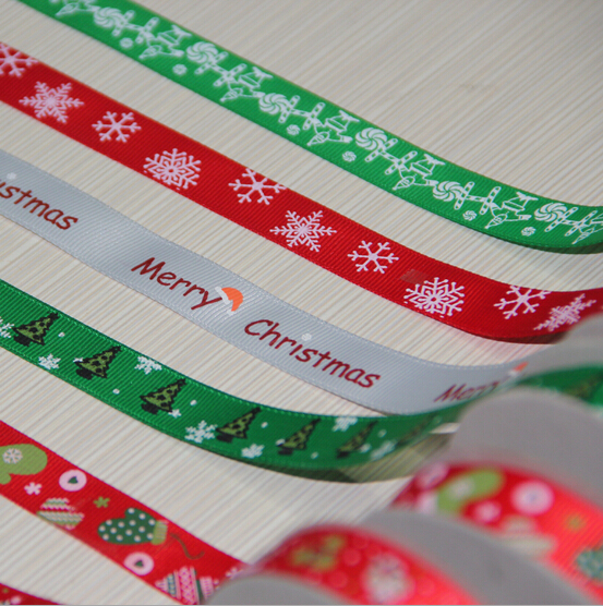 2016 Manufacturer Custom Printed Grosgrain Ribbon for Chrismas decorations