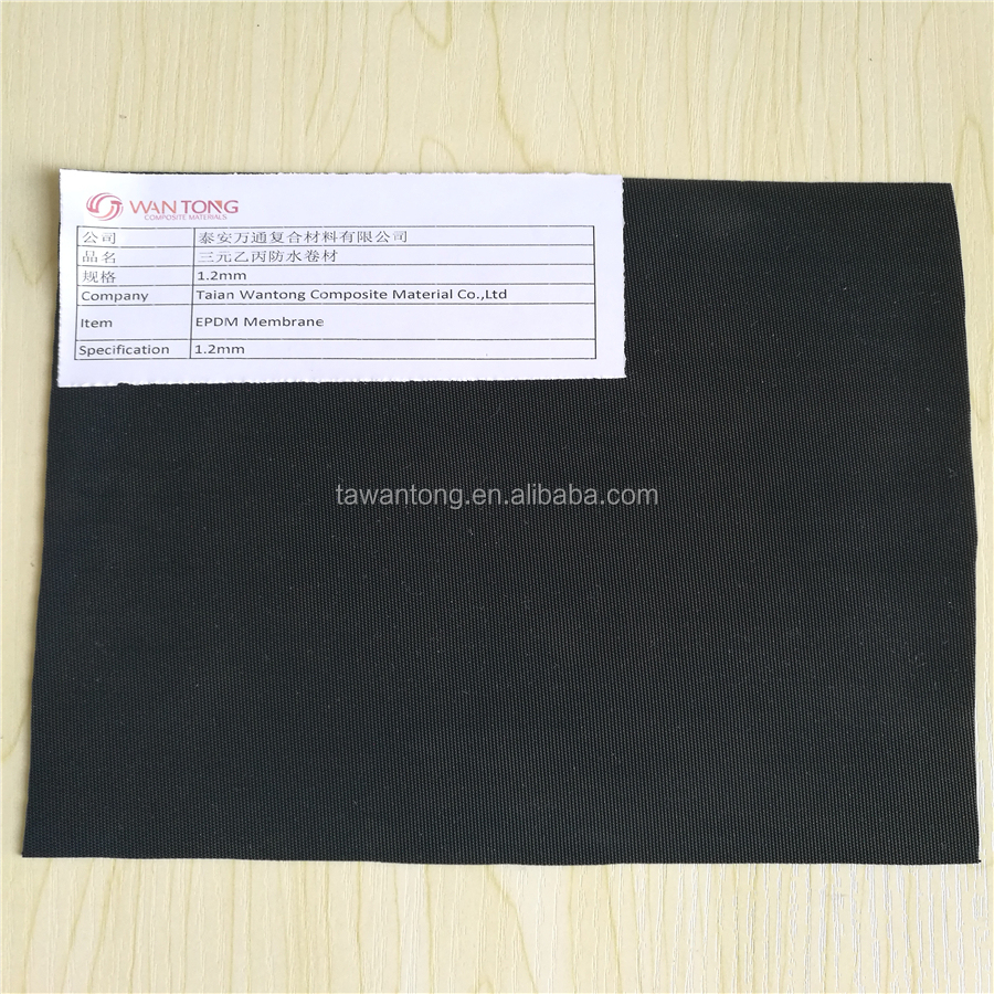 Membrane Waterproofing Roofing 3mm Epdm Rubber Sheet