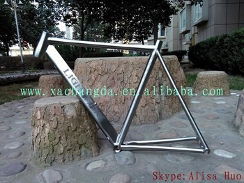 titanium water drop shape road bike frame titanium 53cm road bike frame
